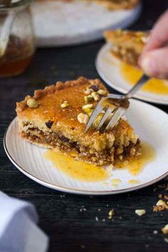 Baklava Frangipane Tart is a merging of cuisines. Italian Frangipane and Middle Eastern Baklava combine to make a tender, nutty and luscious tart. Tart Recipes, Almond Recipes, Sweet Recipes, Dessert Recipes, Cooking Recipes, Sweet Pie, Sweet Tarts, Just Desserts, Delicious Desserts