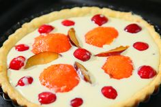 Sweet tooth for an  Osmanthus Cheese Fruit Pie!