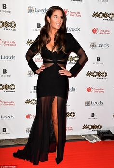 Tulisa Contostavlos attends the MOBO Awards at First Direct Arena Leeds on November 2017 in Leeds, England. Tulisa Contostavlos, Carpets Online, British Fashion Awards, Plunge Dress, Leeds England, Female Singers, British Style, Dress To Impress, Red Carpet