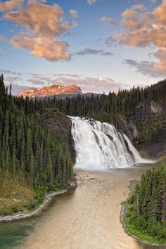 Kinuseo Falls, near Tumbler Ridge, BC by Michael Bednar