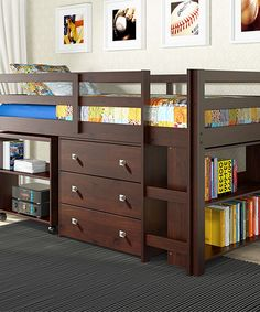 Love this Dark Cappuccino Low Study Loft Twin Bed by Donco Kids on #zulily! #zulilyfinds