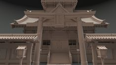ArtStation - Japanese Temple , Javier Mombiela