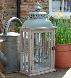 lantern with glass votives