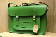 Cambridge Satchel - gorgeous and I love the green color