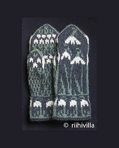 Snowdrop Mittens by Jouni Riihelä and Leena Riihelä - photo, pattern from a book