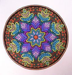 From the Mystic Mandala coloring book, from Dover.