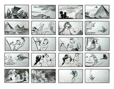 "A master artist who created the storyboards for some of Disney's most beautiful scenes. From the ""Whole New World"" sequence in ""Aladdin"" to . Storyboard Film, Storyboard Examples, Animation Storyboard, Storyboard Artist, Disney Animation, Animation Film, Pocahontas, Comic Book Frames, Comic Books"