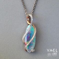 """""""The world is beautiful - embrace it."""" Yale designs Diamond and Gold wrapped Opal. Sapphire Bracelet, Opal Necklace, Pandora Jewelry, Turquoise Jewelry, Body Jewelry, Gemstone Jewelry, Pendant Necklace, Dragon Necklace, Dragon Jewelry"""