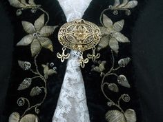 Traditional Icelandic woman's dress and pin.