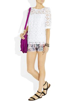 Milly | Eyelet cotton top | NET-A-PORTER.COM