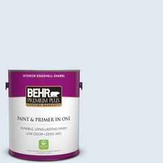BEHR Premium Plus 1-gal. #M540-1 Bellflower Blue Eggshell Enamel Interior Paint