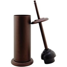 $13.89 Bath Bliss Toilet Plunger with Decorated Rim, Oil Stained Bronze Finish