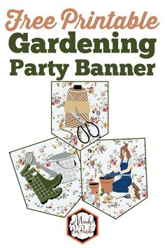Spring is the time to have a delightful Gardening Party. Mandy's Party Printables has these gardening party printables for you for FREE! Free Baby Shower Printables, Party Printables, Free Printables, Unicorn Birthday Parties, Free Birthday, 30th Birthday, Christmas Printables, Gardening, Edgy Shoes
