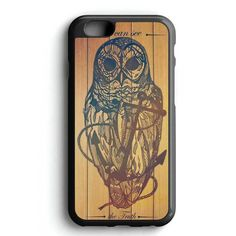Owl On The Anchor Wood iPhone 7 Case
