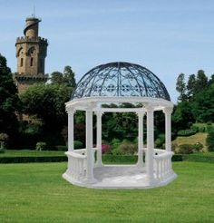 Chiosco Regale - A large decorative marble composite Gazebo - Ideal for period houses and wedding ceremonies
