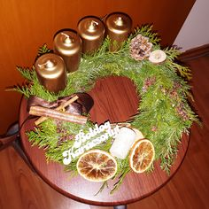 My handmade Advent wreath