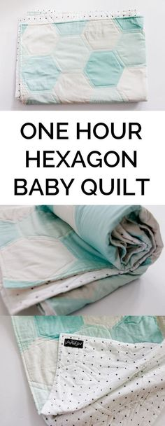 This One Hour Hexagon Baby Quilt by See Kate Sew is a perfect starter project for new quilters or a quick baby gift if you're short on time. -Sewtorial