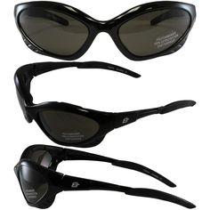 563462f3cba Birdz Crow Aerodynamic Sleek Padded Riding Glasses With Smoke Lenses