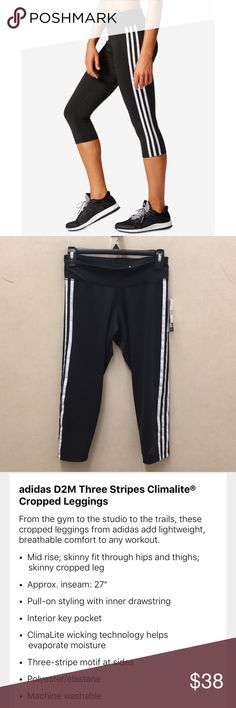 NWT ADIDAS CROPPED LEGGINGS please see picture #3 for more info on this product. adidas Pants Track Pants & Joggers