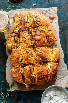 Factors You Need To Give Thought To When Selecting A Saucepan Buffalo Ranch Chicken Pull Apart Bread. Simple To Throw Together And Always A Crowd Favorite. Ideal For Game Day And Any Other Occasion In Between. Buffalo Ranch Chicken, Buffalo Recipe, Creamy Mustard Sauce, Homemade Ranch, Pull Apart Bread, Half Baked Harvest, Le Diner, Game Day Food, Calories