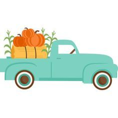 Silhouette Design Store - View Design fall truck with pumpkins Silhouette Cameo Projects, Silhouette Design, Red Truck Decor, Fall Candy, Do It Yourself Crafts, Cricut Creations, Fall Halloween, Halloween Window, Fall Crafts