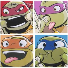 Nickelodeon™ Teenage Mutant Ninja Turtles™ Canvas Wall Art 4 pc Pack, Green