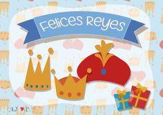Tarjetas y Cartas para los Reyes Magos de Oriente: Ideas nuevas para el 6 de enero Vector Design, Vector Free, Character, Letters, Creativity, January, School