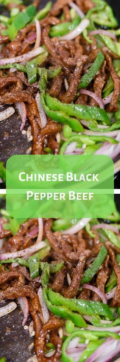 Chinese Black Pepper Beef - My Album Of Recipes Asian Recipes, Beef Recipes, Chicken Recipes, Cooking Recipes, Asian Foods, Chinese Recipes, Recipies, Chinese Cooking Wine, Asian Cooking