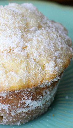 Sundays and sunshine: Lemon donut muffins Funnel Cake funnel cake vs fried dough Muffin Tin Recipes, Donut Recipes, Baking Recipes, Cake Recipes, Dessert Recipes, Lemon Desserts, Lemon Recipes, Just Desserts, Delicious Desserts