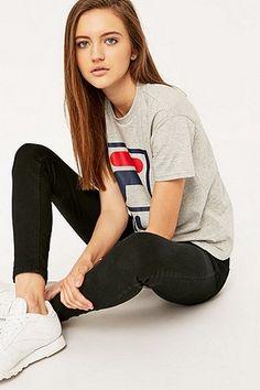 Fila - T-shirt Kate à logo gris chiné