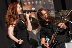 Epica - Simone Simons and Mark Jansen - Photo by Bart Heemskerk - FortaRock 2015 Holland