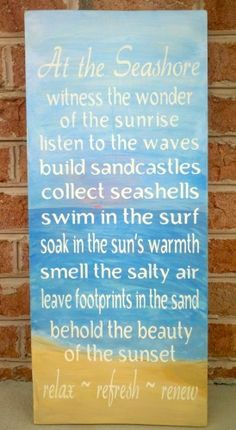 words to follow,love the beach!