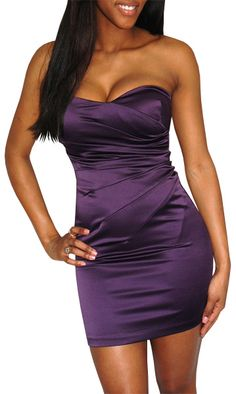This dress is called the No One Else Dress..for good reason! No one's gonna forget you in the color of royalty.
