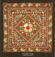 "Jan Patek: Moda's Second ""Oldest"" Designer « modafabrics Primitive Quilts, Warm Colour Palette, Medallion Quilt, Red Wagon, Small Quilts, Applique Quilts, Quilting Designs, Baby Quilts, Fabric Patterns"