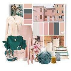 """""""Design Seeds - Pink Perfect"""" by laaudra-rasco ❤ liked on Polyvore featuring Hawkins, Roland Mouret, Topshop, Yves Saint Laurent, SJP, Blue Nile and Uma"""