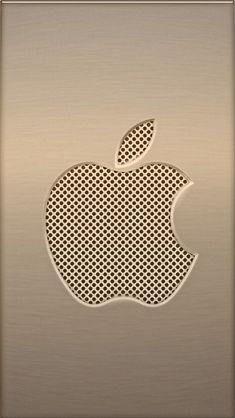 Download Metal & Mesh Apple 640 x 1136 Wallpapers - 4591116 - Apple Metal Brass Logo iPhone | mobile9
