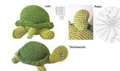 Patrones Crochet: Tortuga Amigurimi Patron y Texto
