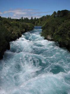 Huka Falls #New Zealand near where I grew up