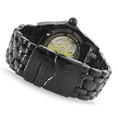 """Invicta Men's 44mm Lupah Diver """"Skull"""" Limited Edition Automatic Stainless Steel Bracelet Watch  caseback"""
