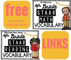 Calling all TEXAS teachers! STAAR math and reading vocabulary, premade! FREE!