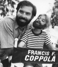 Francis Ford Coppola with his sonGian-Carlo Coppolawhile filming Finian's Rainbow (1968)