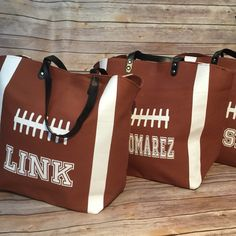 Personalized football totes added to the shop!!!