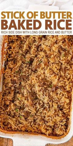 Rice Side Dishes, Vegetable Side Dishes, Food Dishes, White Rice Dishes, Chicken And Rice Dishes, White Rice Recipes, Rice Recipes For Dinner, Recipes With Rice, Buttered Rice Recipe
