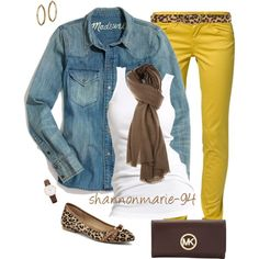 Mustard and Leopard - interesting, I have all these pieces and never thought about them together...gonna try it!