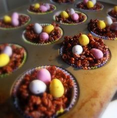 The English Kitchen: Easter Chocolate Crispie Nests
