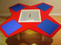 Lego table for four, with center storage bin