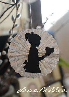 Make a Silhouette of Anything You Like::Then  paste it on a heart shape fan ❤ Add a message if you want.