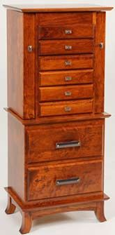 48 Deluxe Flush Mission Jewelry Armoire Jewelry cabinet Armoires