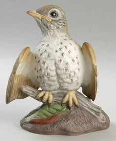 Boehm Boehm Birds Fledgling Wood Thrush - Nb1033, No Box