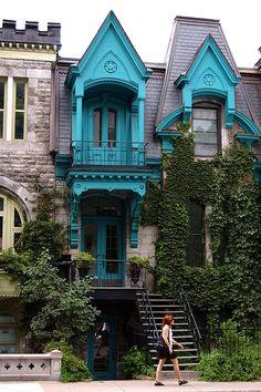 Victorian homes, Plateau Mont-Royal, Square St-Louis, Montreal